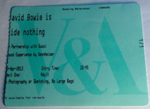 Bowie Is Ticket