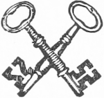 Two keys, crossed